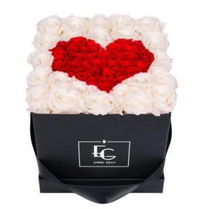 Розы в форме сердца в коробке #3