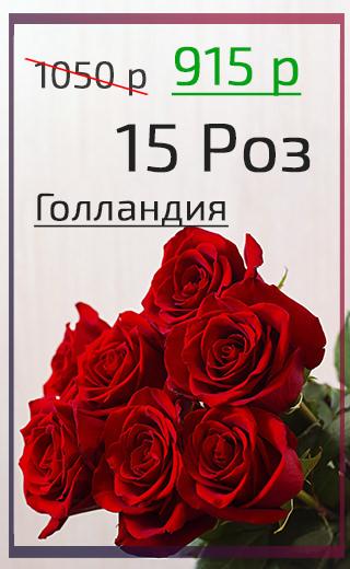 Розы Голландия Баннер Мобильная 15 шт Март 2021